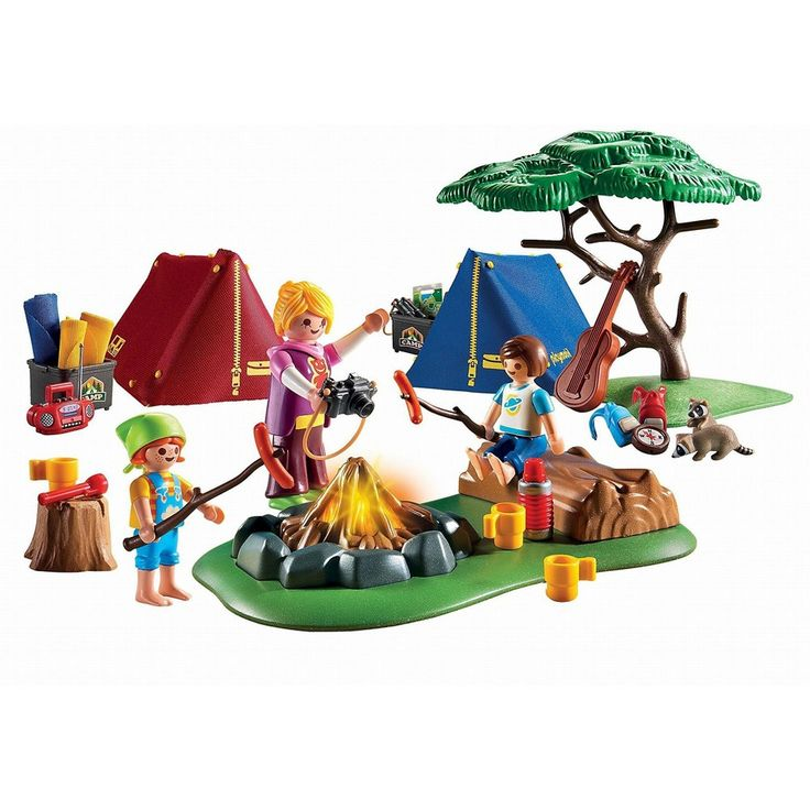 Playmobil Camp Site with Fire, Bright Multi Colors