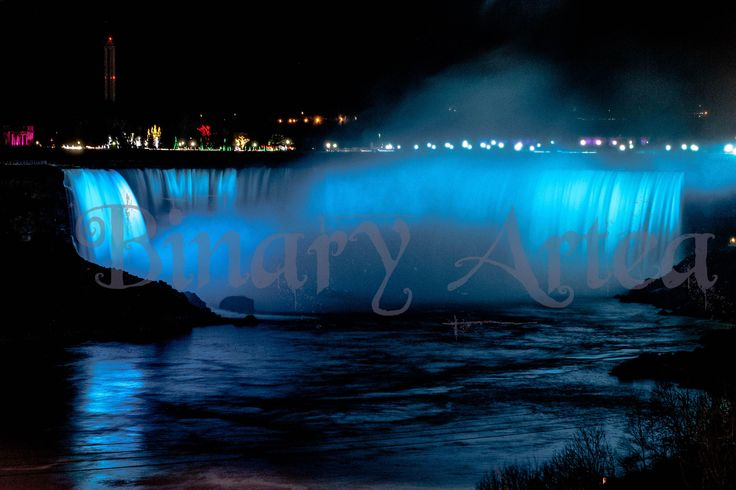 Niagara Falls at Night-Digital Download, Landscape Photography, Art, Home, Office, by BinaryArtea on Etsy