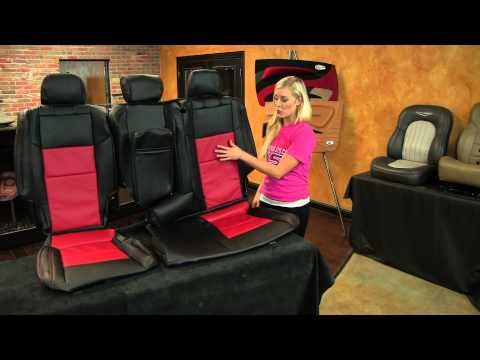 ▶ Jeep Grand Cherokee 2011 - 2014 custom Black & Red Leather interior upgrade kit - LeatherSeats.com - YouTube