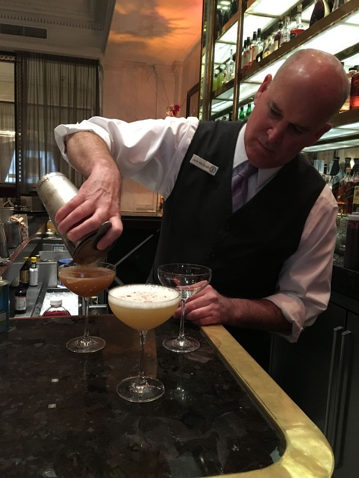 Bartender, Jack McGrath mixing up some new summer #cocktails in 1862 by Martin Hamann at The Union League of Philadelphia.