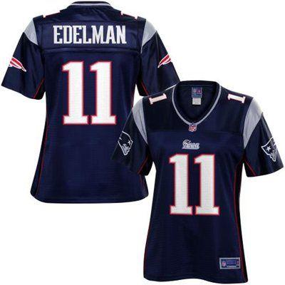 Pro Line Women's New England Patriots Julian Edelman Team Color Jersey