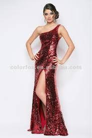 Resultado de imagen para vestidos de lentejuelas largos rojos