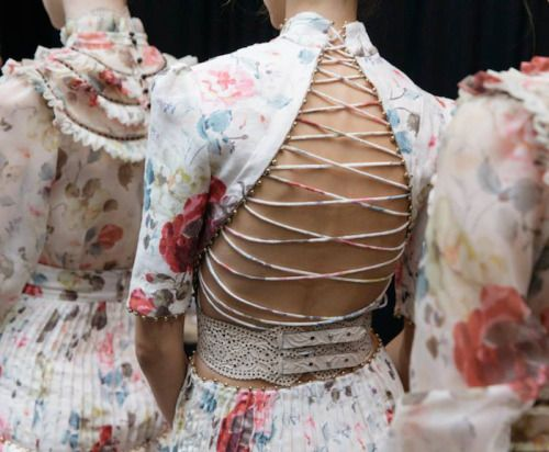 notordinaryfashion: Zimmermann S/S 2016 - I love this lace up back, amazing!