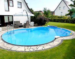 Hochwertige Stahlwandbecken für die private Wellnessoase: klassischer Pool von POOLSANA GmbH & Co. KG