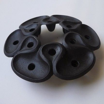 "Vintage Cast Iron Candle Holder by Jens Quistgaard for Dansk. 4 1/2"". $36."