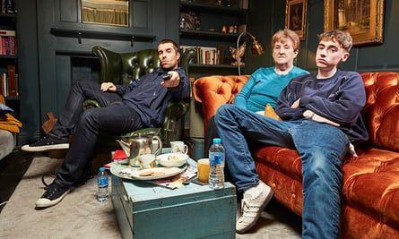 Liam Gallagher, mum Peggy and son Gene.