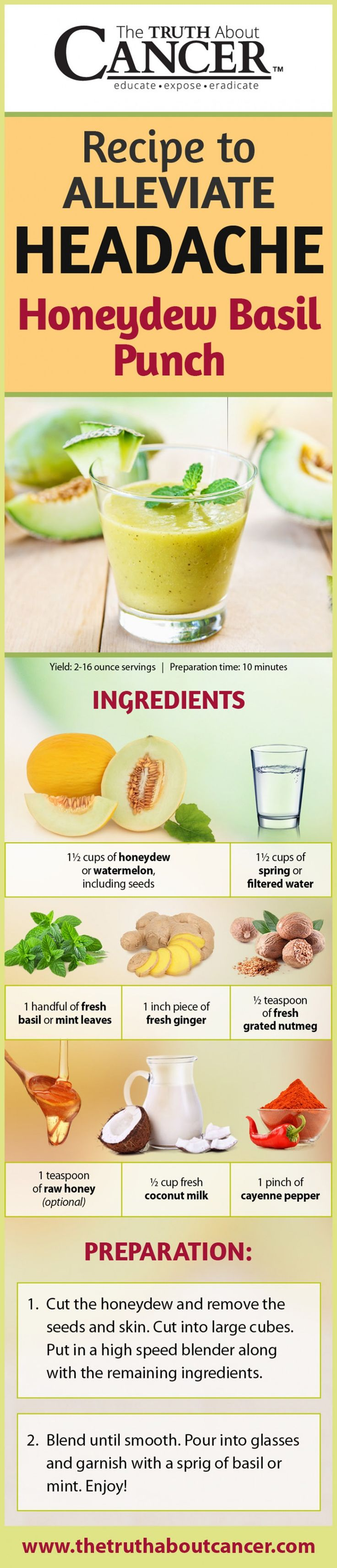 Headaches are a nasty side effect of conventional cancer treatment but when you click on the image you can find 9 foods (plus recipes!) for you today which will help alleviate the pain.