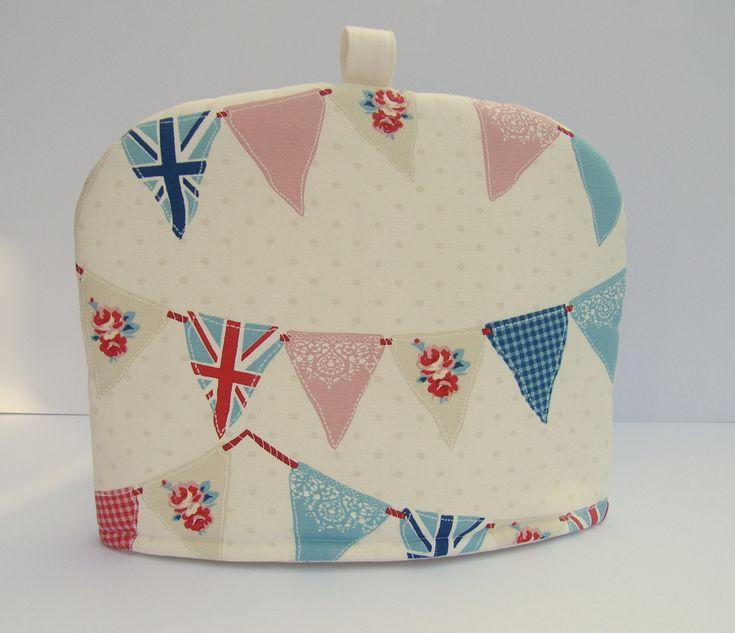 Tea Party Bunting Tea Cosy - UK Designer fabric. $25.00, via Etsy.