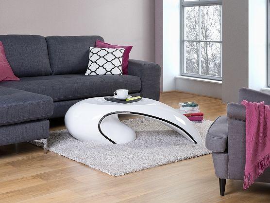 Stolik kawowy – biały – stół – ława – włókno szklane - ELATUS