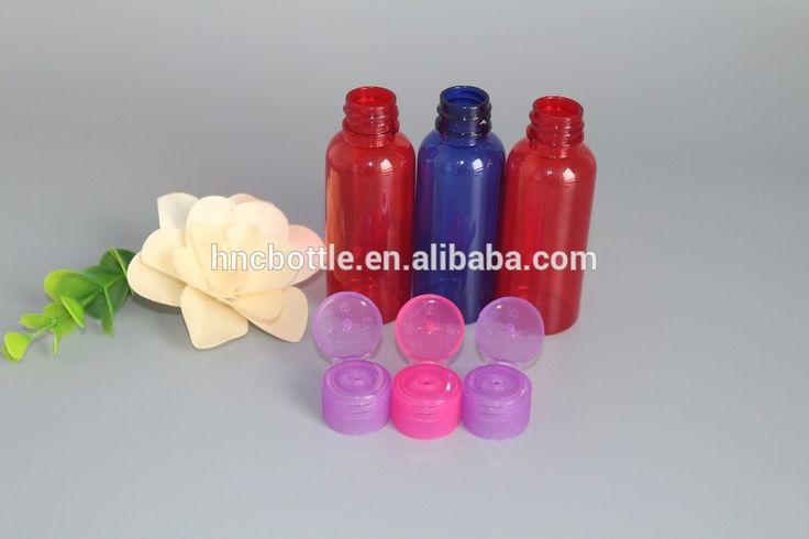 Mini plastic bottles colorful PET empty plastic capsule container for sale in usa