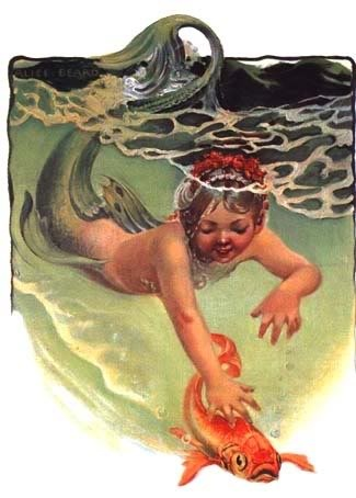 Mermaid Child Golden Fish: Golden Fish, Mermaids Child, Sea Creatures, Children, Fish Mermaids, Art Fish, Mermaids Art, Boston Posts, Under Sea