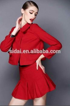 fall winter famous brand morden women business wool red suit or wedding suits