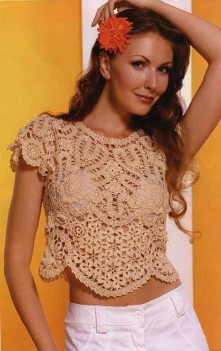 """Crochet gold: The top """"The stars!"""""""