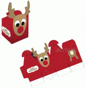 Rudolph Box Template