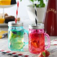Hire Cocktail Glasses | Kilner Drinking Striped Straws 9inch. Perfect finishing touch to your drinking jar. Order at +353 (1) 687 5066