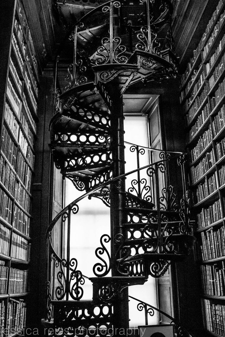 Best Black And White Spiral Staircase Silhouette Art Print 400 x 300