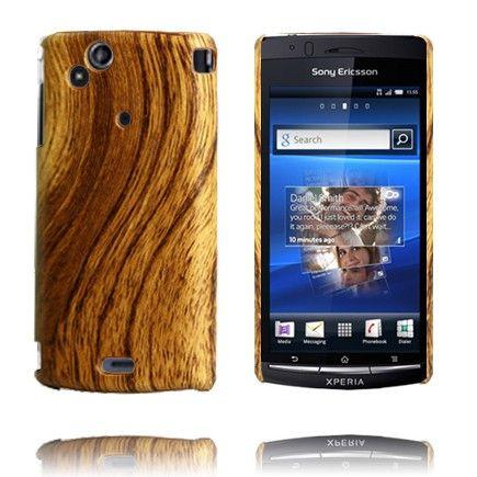 Wood Series (Brun Tømmer) Sony Ericsson Xperia Arc Deksel