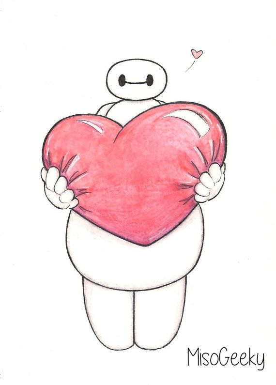 """Roses are red, Violets are blue, And I want you to know.... That I'm So Satisfied With You!""   Baymax Valentine Drawing - MisoGeeky"