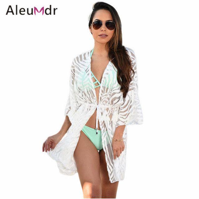 Summer Clothing Styles Beachwear Dresses White/Black Animal Print Drawstring Swimsuit Cover Up Dress LC42055 Moda Praia