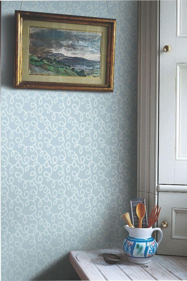 Vermicelli By Farrow Ball Pale Blue Wallpaper Wallpaper Direct Farrow Ball Chic Wallpaper Farrow And Ball Wallpaper Farrow and ball wallpaper samples
