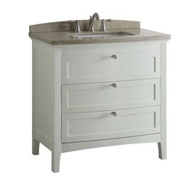 allen + roth Norbury 36-in x 22-in White Single Sink Bathroom Vanity with Engineered Stone Top