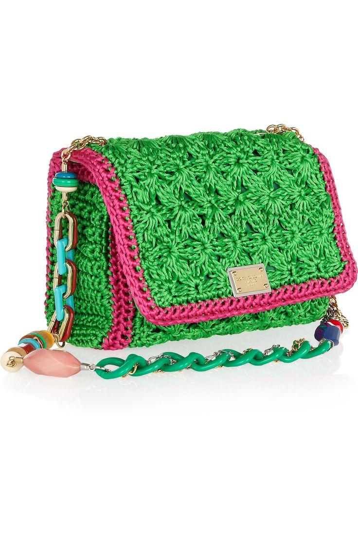 Dolce & Gabbana|Crocheted shoulder bag: Shoulder Bags, Dolce Gabbana, Crochet Bags, Crochet Shoulder, Gabbana Crochet, Denim, Dolce & Gabbana, Crochet Purses, Christmas Gifts