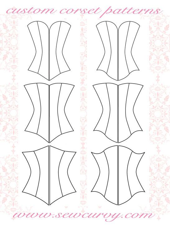 custom corset pattern shapes specifically for larger busts!