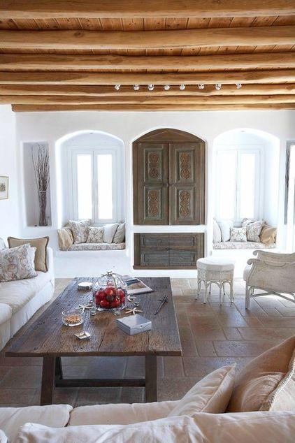 mediterranean living room by Mykonos Panormos Villas cool for living room -- sjc