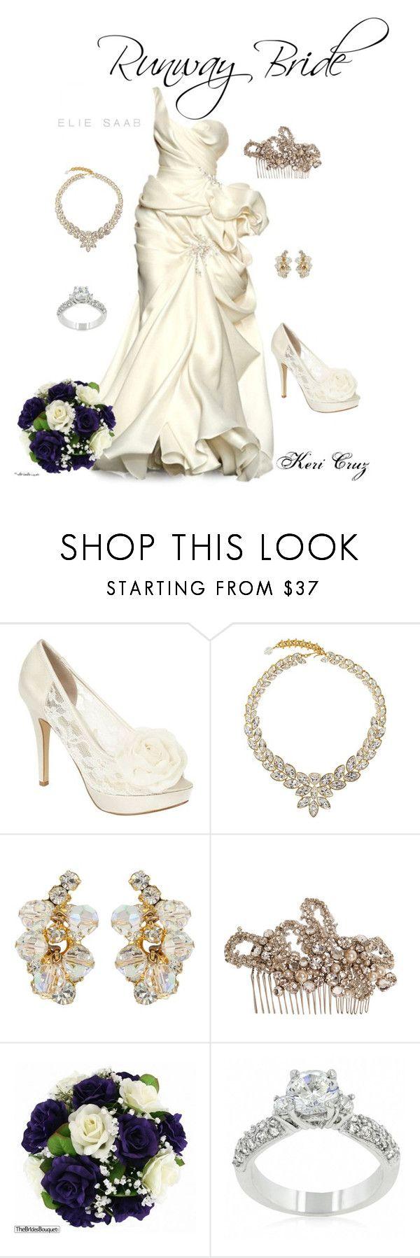 """Runway Bride"" by keri-cruz ❤ liked on Polyvore featuring Debut, Susan Caplan Vintage, Elie Saab, Temperley London and Fantasy Jewelry Box"