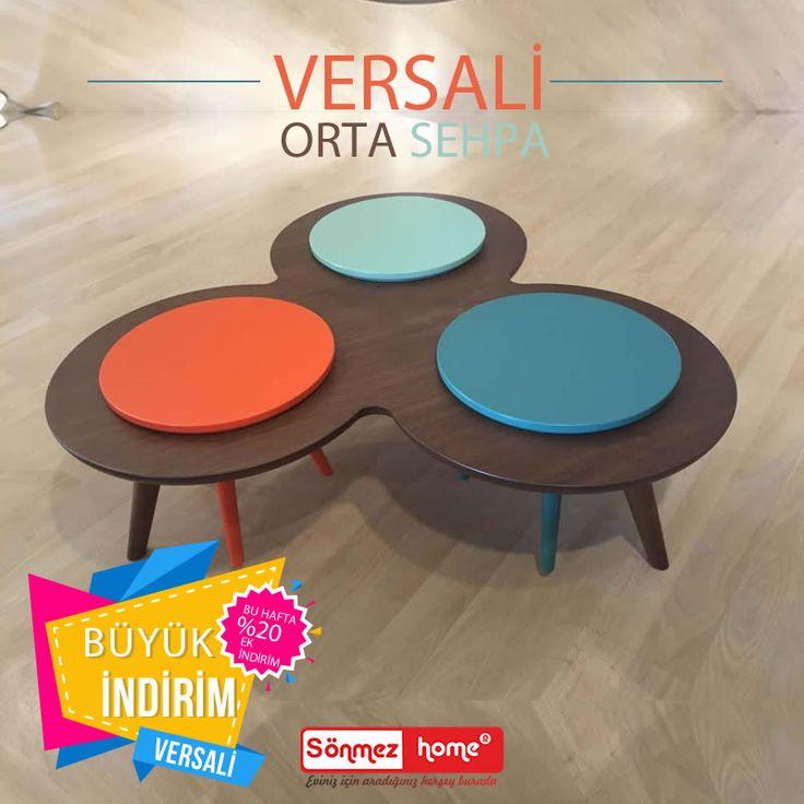 Versali Modern Orta Sehpa Ahşap işçiliği ile Sönmez Home'da! #Modern #Furniture #Mobilya #Versali #Orta #Sehpa #Sönmez #Home