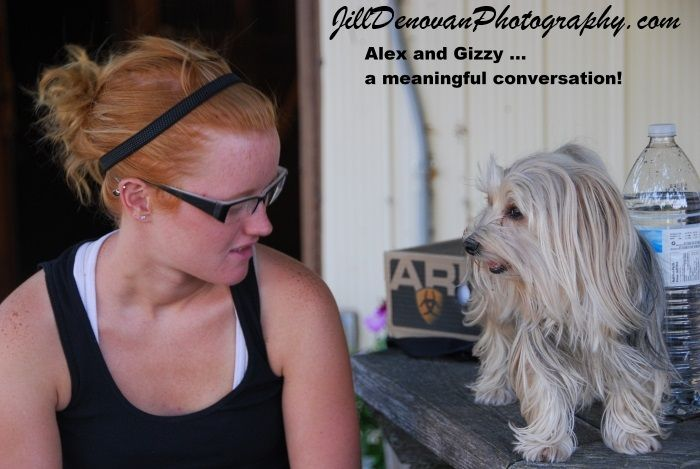 Alex and Gizzy ... Meaningful Conversation - 2011