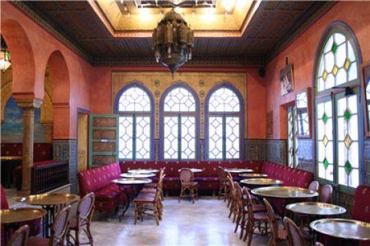 Café Maure Mosquee de Paris, pâtisseries délicieuses ^^