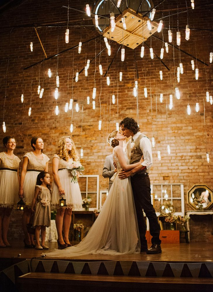 Simply magical wedding lighting
