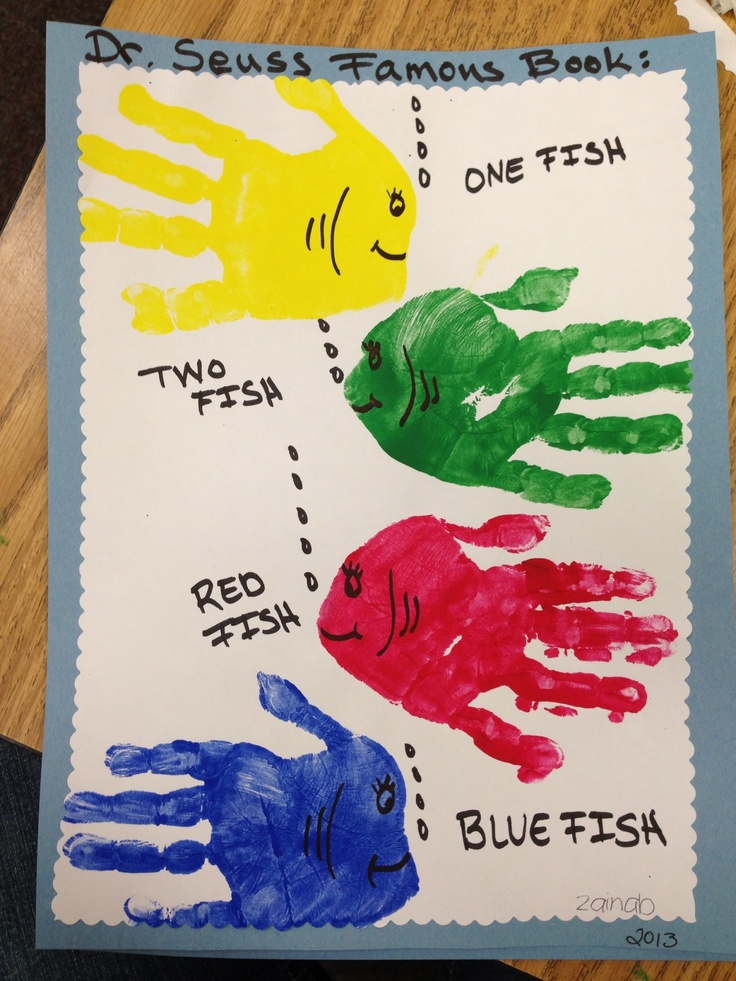 Dr. Seuss easy craft with hand prints!   For The Kids ...