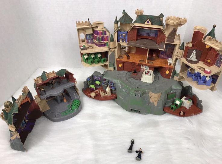 Only 2 Figures  Harry Potter Polly Pocket Hogwarts Castle/ Forbidden Corridor W/ 2 Figures #Mattel