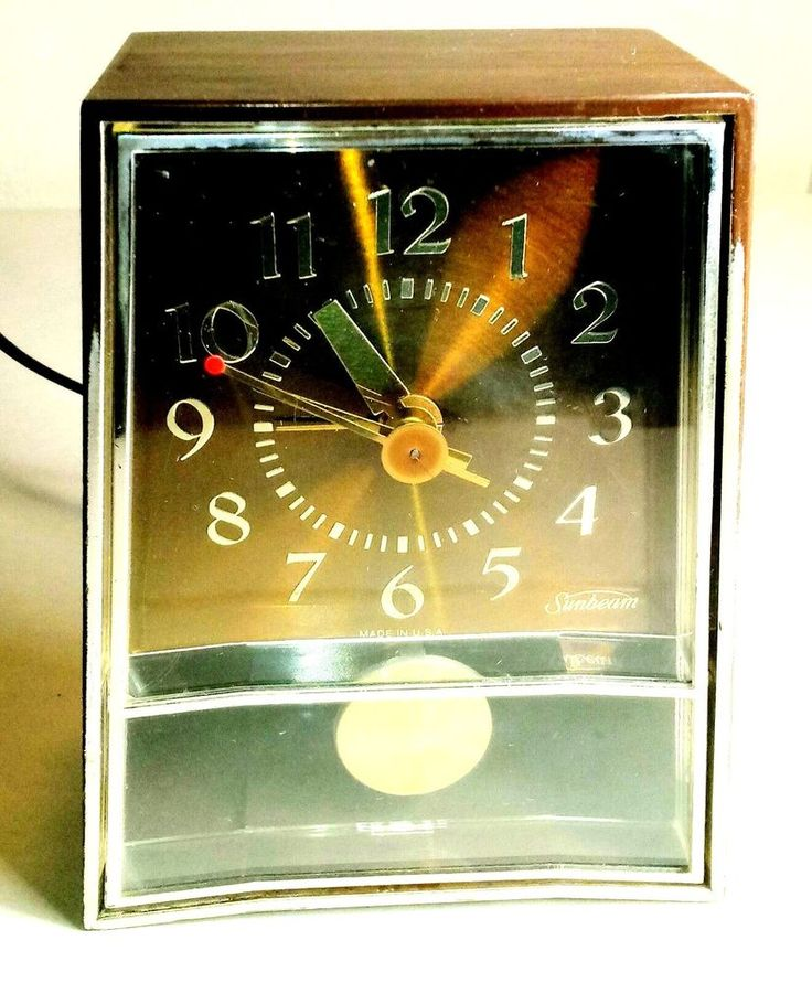 SUNBEAM ELECTRIC ALARM CLOCK W/FLOATING PENDULUM 480-103C USA #SUNBEAM