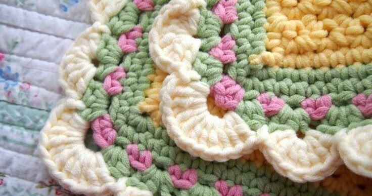 El remate para las labores en crochet.un piquillo unas