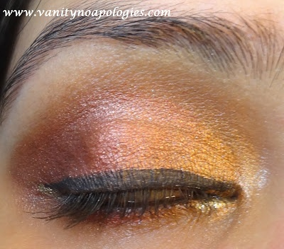 "Sorelle Grapevine: VNA Summer Eye Makeup Contest - My Second Entry ""Summer Sunset"""
