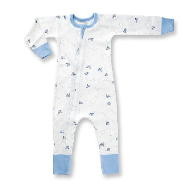 This Zip Romper is exclusively designed by Sapling, an Australian company specialising in the most comfortable, highest quality 100% organic cotton children's wear.     Flight Collection - Paper Planes Made from the finest organic cotton - 100% GOTS certified. Printed with organic, 100% GOTS approved water-based dyes. Longer cuffs for folding allows for growth and longevity. Closed, flat-seam stitching protects baby from irritating inner seams and provides greater strength for quality.