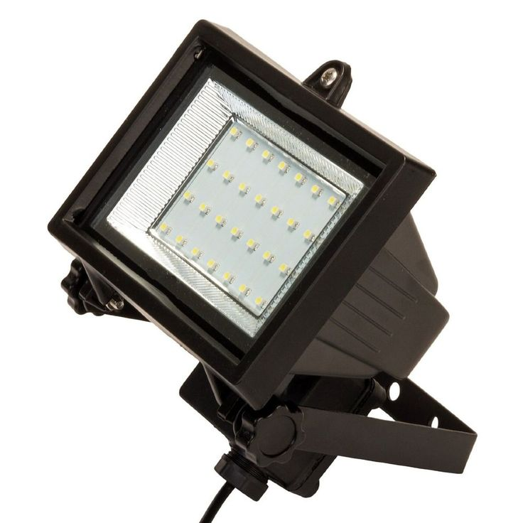 led solar powered flood light security backyard garage front entrance patio shed
