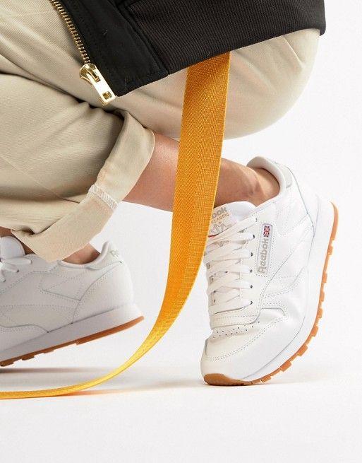 ce77da2fbdd8 Reebok Classic White Leather Sneakers