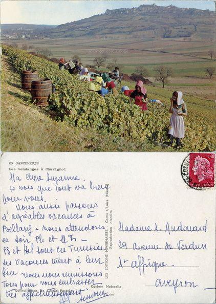 En Sancerrois - Les vendanges à Chavignol - 1970 (from http://mercipourlacarte.com/picture?/98) Les Éditions Nivernaises, Cosne-sur-Loire