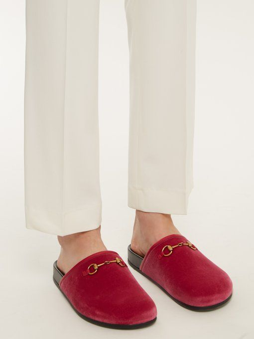 5f14d3a8dc6 Gucci New River velvet loafers crafted in Italy from deep rose-pink velvet  and leather