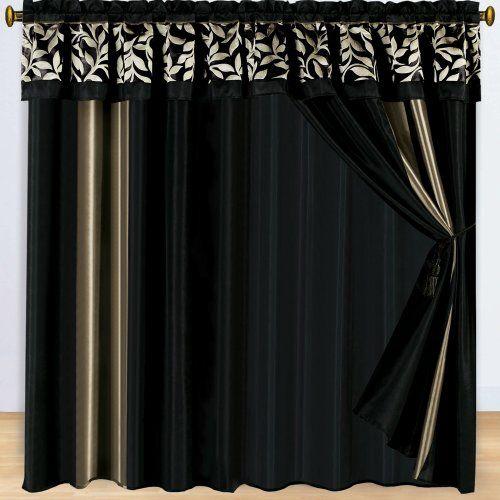 27 best curtains images on pinterest kitchen window. Black Bedroom Furniture Sets. Home Design Ideas