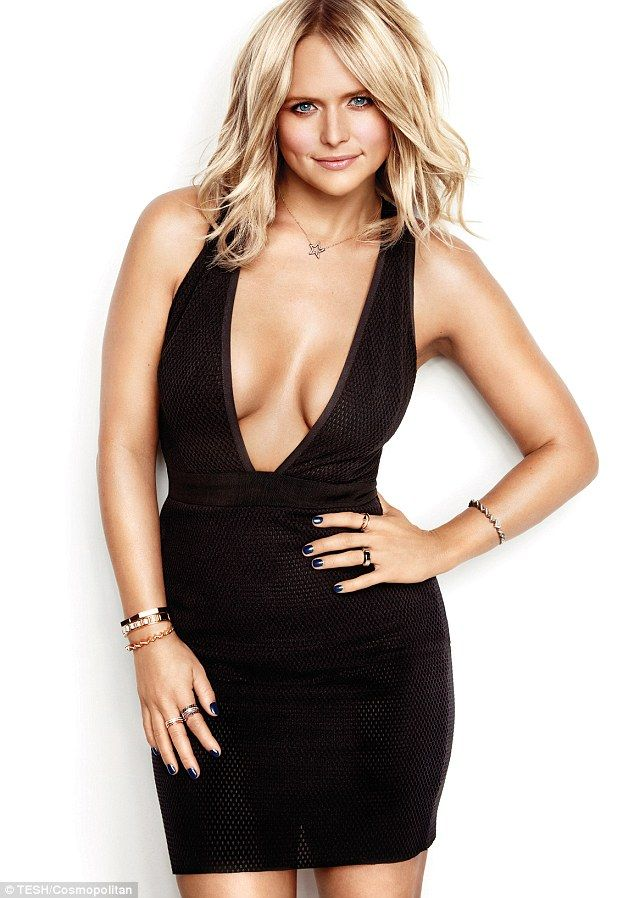 Split: Miranda Lambert showed off her figure in a little black dress as she posed for Cosmopolitan magazine