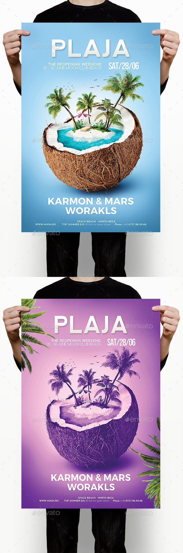 Beach Party — Photoshop PSD #trip #coconut • Available here → https://graphicriver.net/item/beach-party/17451327?ref=pxcr