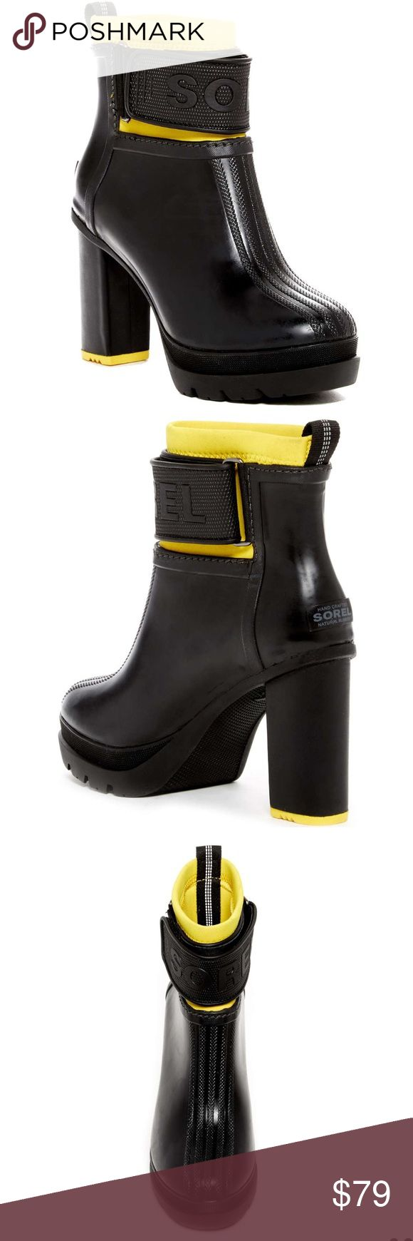 Sorel rain boot New in box. Totally chic waterproof rain boot. Sorel Shoes Winter & Rain Boots