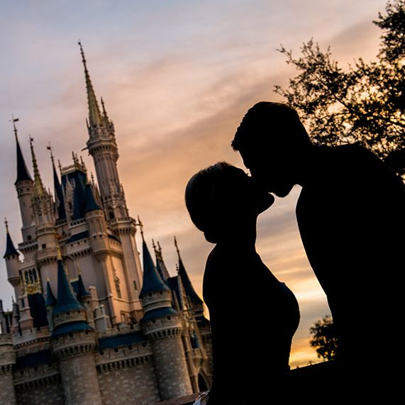 A fairy tale engagement and wedding | Disney Fairy Tale Weddings and Honeymoon | LOVE this photo!