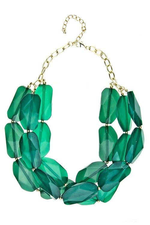 Emerald Statement Necklace