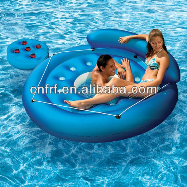 inflatable Island Float lounge relaxing pool water toy $8.00~$20.00